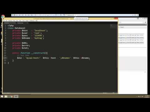 Learn How to Create a Database using PHPMyAdmin and OOP - Part 2