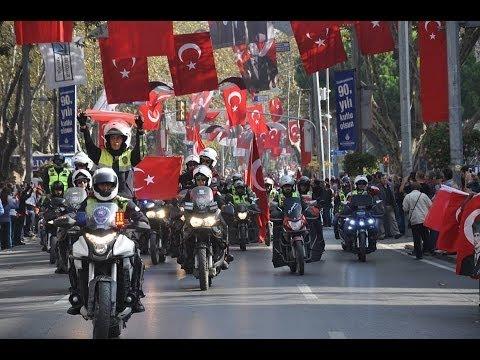 Motosikletli Kuryeler Derneği 29 Ekim 2013 Cumhuriyet Korteji