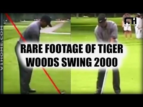 Rare Footage of Tiger Woods Golf Swing in 2000