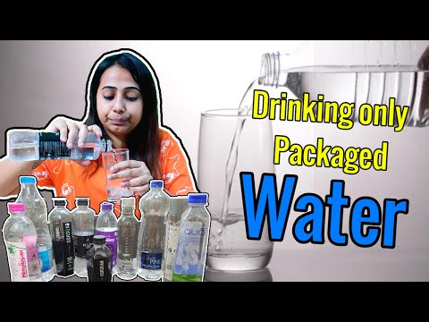 Drinking only **PACKAGED WATER** for 24 Hours   Did I loose the Challenge?   All types of Water