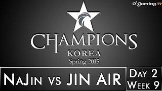 LCK Spring 2015 - W9D2 - NaJin vs JIN AIR