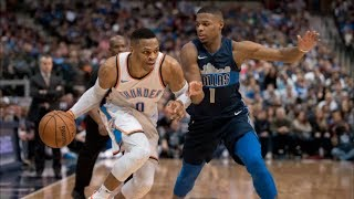 Russell Westbrook Triple Double in Defeat vs Mavs! 2017-18 Season