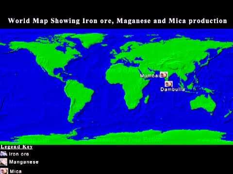 CBSE Class Geography Distribution Of Minerals Lessson - Honduras mineral map non metallic