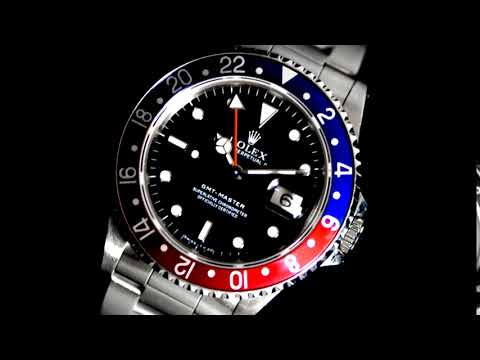 Men's Stainless Steel Rolex Gmt-Master Automatic Wristwatch