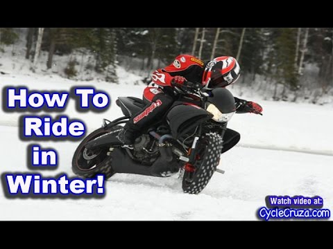 How To Ride Motorcycle in Winter | Moto Vlog