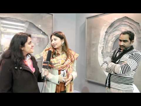 Constucted angles at India Art Fair 2012