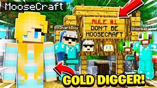 I Went UNDERCOVER as a GOLD DIGGER on the MOOSE HATER Minecraft Server and SAW THIS!