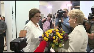 DOPESHEET Lithuanian President Dalia Grybauskaite celebrated her victory in a presidential runoff granting her a second term...