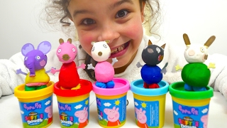 Peppa Pig Play Doh Toy Figures Clay Dough, Peppa Pig Toys from Play Doh