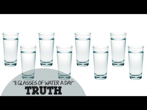 otto bicchieri d'acqua al giorno e i rispettivi benefici!