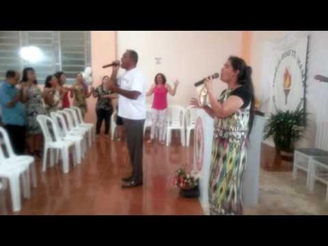 Pr.ENIO E CANTORA REJANE-HINO-FIÉL-ALMOÇO EM CAIBATÉ-RS