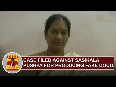 Case-filed-against-Sasikala-Pushpa-for-producing-Fake-Documents-in-Court-Thanthi-TV
