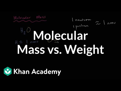 molecular mass and molecular weight video khan academy