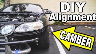 MAX CAMBER on my 1JZ Lexus (DIY drift alignment) by Evan Shanks