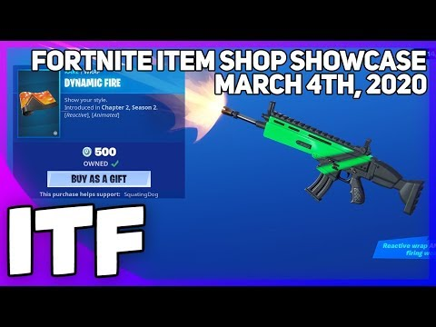 Fortnite Item Shop NEW DYNAMIC FIRE WRAP! March 4th, 2020 Fortnite Battle Royale