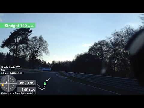 BMW e90 325D Nurburgring Nordschleife, BTG 8:03