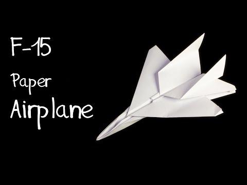 How to make an F15 Eagle Jet Fighter Paper Plane (Tadashi Mori)