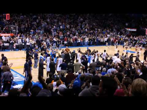 What Kevin Durant's game-winner looked like from the stands