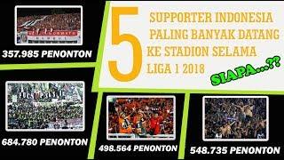 Video BONEK TERBANYAK!! 5 Supporter Paling Banyak Hadir di Stadion Pada Gelaran Liga 1 2018 MP3, 3GP, MP4, WEBM, AVI, FLV November 2018