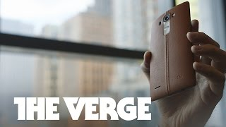 This is LG's new leather-bound smartphone, the G4