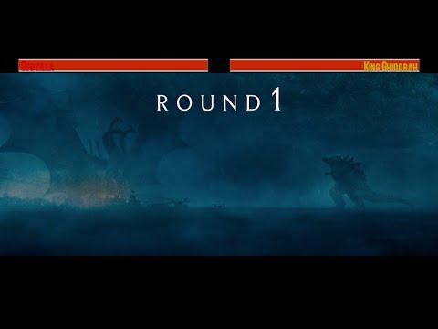 Godzilla vs King Ghidorah...with healthbars (Artic Fight)