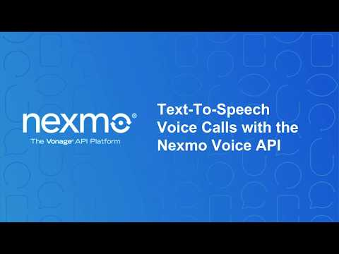 Programmable Voice 101: Make your first outbound TTS call with the Voice API