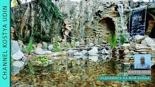Декоративный водопад создан для встречи гостей отеля (Decorative waterfall is designed hotel guests)