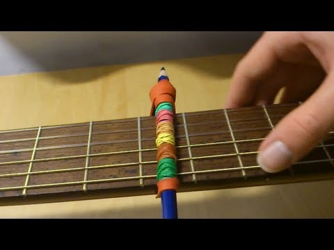 Kapodaster für Gitarre selber bauen – Anleitung