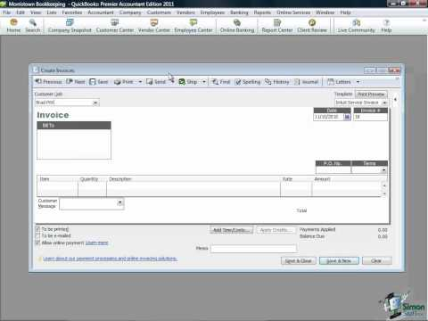 QuickBooks Training - Managing Accounts Receivable in QuickBooks Pro 2011