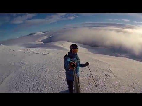 Myrkdalen - dekket av snø