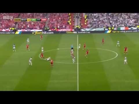 TOM ROGIC TREBLE WINNING GOAL Celtic 2-1 Aberdeen scottish cup final