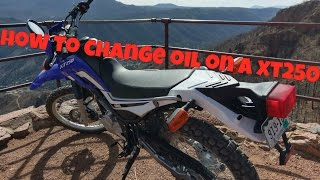 6. How To Change Oil on an XT250
