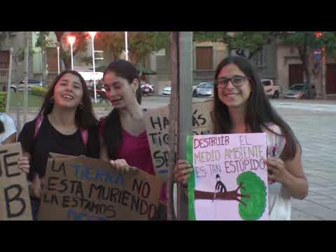 Manifestación por el cuidado del medio ambiente en plaza 33.