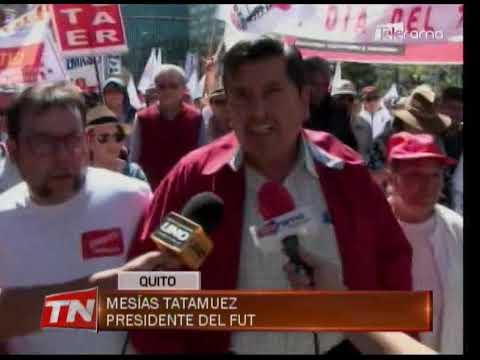 Trabajadores marcharon en su día con críticas al gobierno