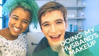 """Doing My """"Husband's"""" Makeup Tag!  Glam Makeup Transformation: My """"Husband Does My Makeup"""" Video was hilarious (http://bit.ly/2lhCgWF) so we did a """"Doing My Husband's Makeup"""" video too! Doing Dakota's makeup was so fun. He's not my actual husband, but I've always wanted to do this tag video! What do you think of this glam husband makeup transformation?💕ABOUT CAMILLE: http://bit.ly/2l5xyjE💕CHECK OUT DAKOTA'S CHANNEL HERE: http://bit.ly/2li5ZnuFOLLOW ME HERE:•Beauty YOUTUBE Channel: http://www.youtube.com/OffbeatLook•Personal YOUTUBE Channel: http://youtube.com/offbeatenergy•Instagram: @OffbeatLook•Blog: http://OffbeatLook.com•Facebook Fanpage: http://bit.ly/2lhtvfw•Twitter: http://www.twitter.com/OffbeatLook•Tumblr (Beauty/Fashion): http://www.OffbeatLook.tumblr.com•Tumblr (Personal): http://OffbeatEnergy.tumblr.com•YouNow: https://www.younow.com/OffbeatLook•Pinterest: http://pinterest.com/OffbeatLook•SNAPCHAT: @OffbeatEnergyHOW TO FOLLOW MY BLOG:  My blog: http://offbeatlook.com  Follow it on BlogLovin' here: http://bit.ly/2icmrSX  OR go to my blog and enter your email under """"Subscribe by Email""""SUPPORT MY CHANNEL ON PATREON: https://www.patreon.com/OffbeatLookPRODUCTS USED:••••••••••••••••••Contacts in """"Pure Hazel"""" http://bit.ly/29RqqQV•Septum Ring http://bit.ly/298FdDdWHAT I FILM WITH (usually):•Camera: http://amzn.to/1YdOWhw•Lens: http://amzn.to/1YdPbJu (More important than the camera? Probably! Make sure you get it with the mount that's compatible with your camera!)•Main Light: http://amzn.to/1t7Jhxi•Other Lights: http://amzn.to/1RWMswyDISCOUNTS YOU CAN ALWAYS GET-30% Off Ofra Products http://bit.ly/29QyuOs using coupon code """"OFFBEATLOOK""""MY RECOMMENDED VIDEOS TO WATCH:-Foundation Routine: http://bit.ly/2asarr5-Current Hair Colour Tutorial: http://bit.ly/2h1Mfz0-I know I look like Nicki Minaj...: http://bit.ly/2biq1rdFAQ:Q: What are you?A: A human... mostly D:Q: Ohh I meant what ethnicity...A: I'm half Jamaican (yah mon!) and half white :PQ: How old are you?A: Some"""
