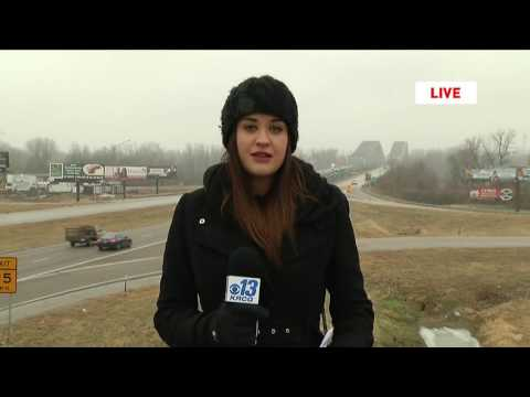 Ice on roads in mid-Missouri live shot 12/16/16