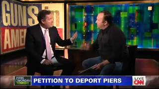 Video Alex Jones vs Piers Morgan On Gun Control - CNN 1/7/2013 download in MP3, 3GP, MP4, WEBM, AVI, FLV January 2017