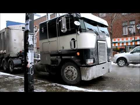 PETERBILT COE / INTL / FREIGHTLINER TRUCKS IN SNOW REMOVAL
