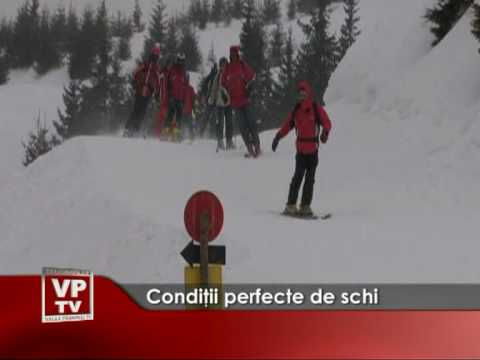 Condiţii perfecte pentru schi