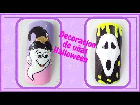 Decoracion de uñas - DECORACION DE UÑAS HALLOWEEN-Nails halloween