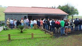 Junta de freguesia de Velas, inaugura obra no terreiro da Macela.