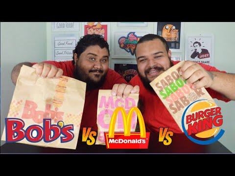 QUAL SERÁ O MELHOR? Big Bobs X Big Mac X Big King
