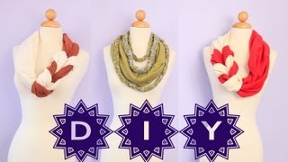DIY Cute Braided Scarves {No Sew EASY How To } Gift Ideas - YouTube