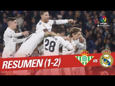 Resumen de Real Betis vs Real Madrid (1-2)