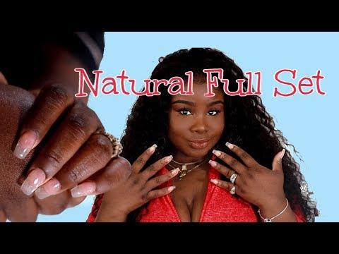 How I do my Acrylic Nails at Home !  Natural Set