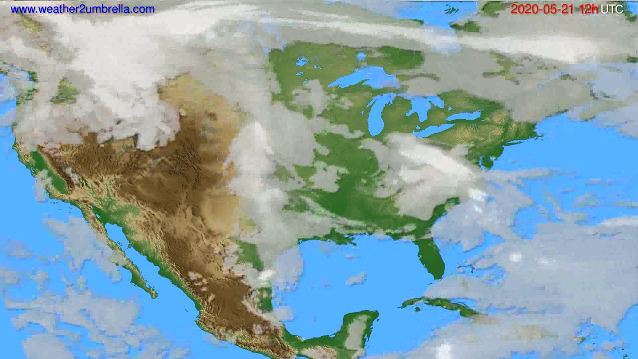 Cloud forecast USA & Canada // modelrun: 00h UTC 2020-05-21