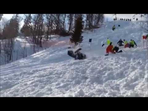 Tremendo Fail en Moto de Nieve