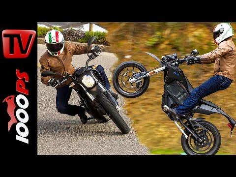 Zero DSR - FXS Elektromotorrad Test 2016   Action, Reichweite, Fahreindruck (English Subtitles)