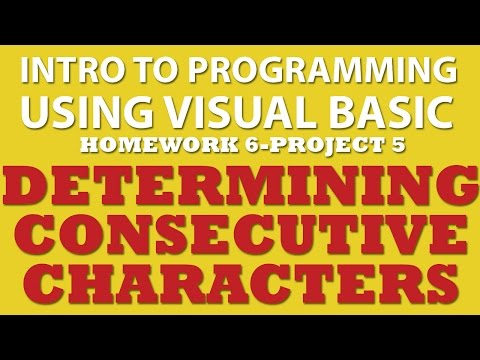 VB.net (Ex 6-pp5) Finding Consecutive Characters in a String