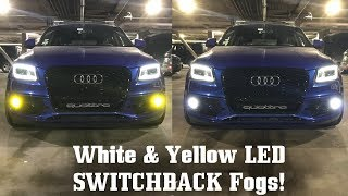 White AND Yellow Fog Lights? DeAutoKey LED Fogs, Reverse, & Interior on SQ5 by Ignition Tube